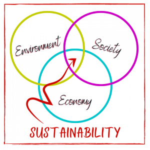 The three elements of sustainability